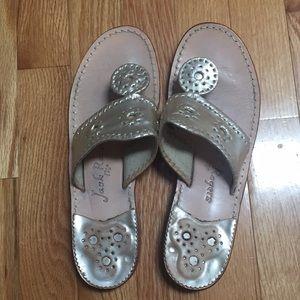 Shoes - Jack Rogers platinum sandals - size 8